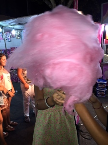 Mary and the giant candy floss