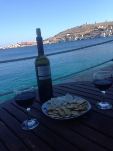 My favourite recipe: Take one bottle of your favourite red wine, add cheese and biscuits. Garnish with a fab view.