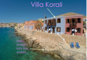 Villa korali on the waterfront