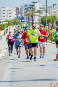 NOT ALONE!! For 5 minutes at least with the 5k runners. (photo credit: Creative Rodos Photographers